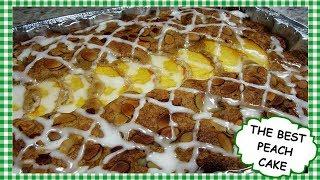 Southern Peach Cake Recipe ~ Easy Homemade Fresh Peach Cake