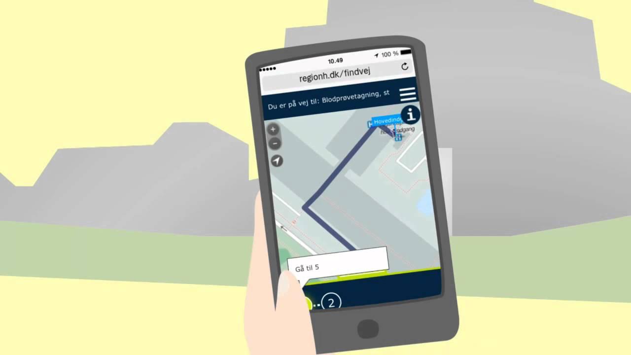 Find vej på alle Region Hovedstadens hospitaler med din smartphone - YouTube