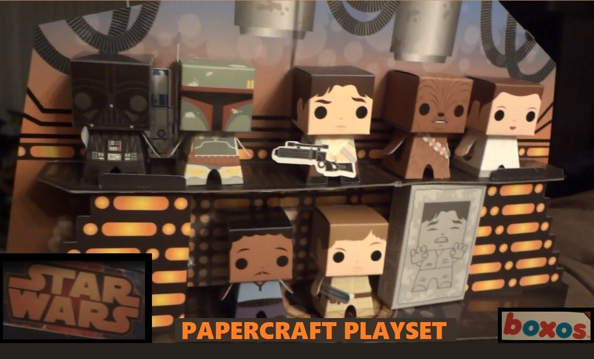 star wars papercraft playset youtube. Black Bedroom Furniture Sets. Home Design Ideas