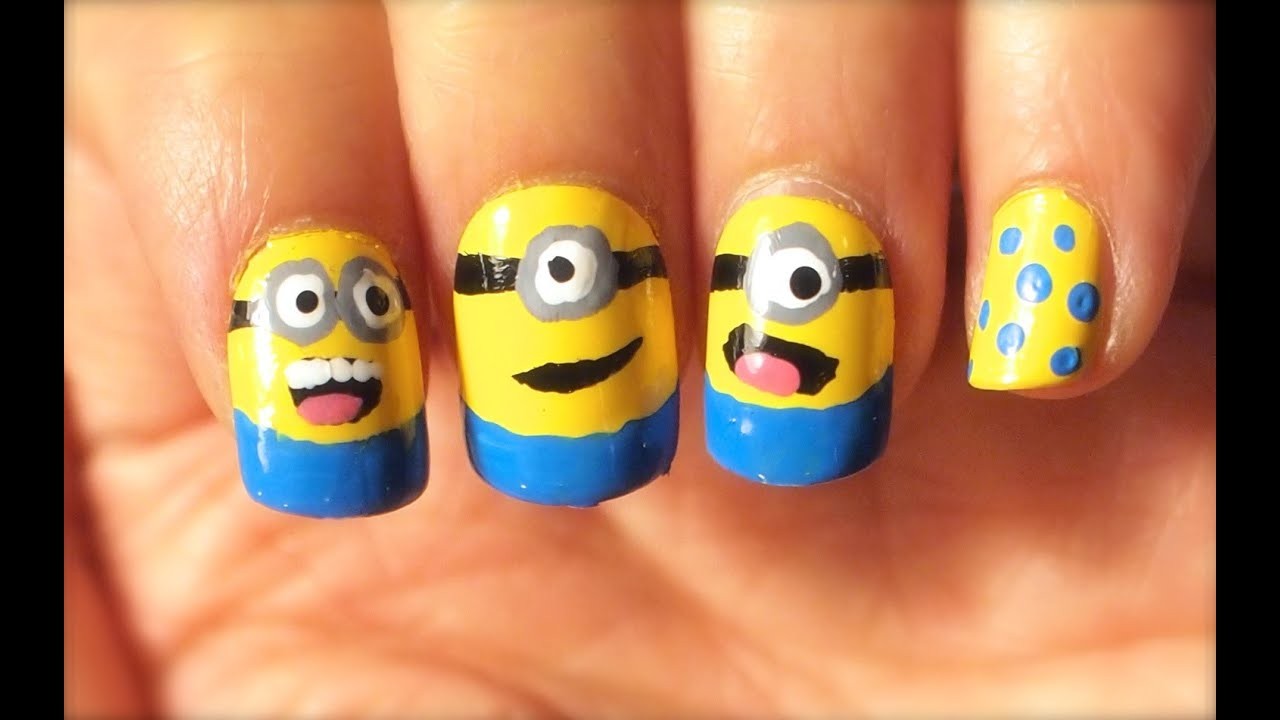 - How To Do Minions Nail Art - YouTube
