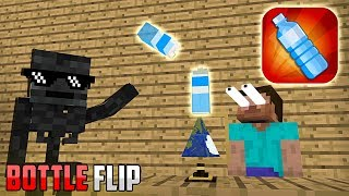 Monster School : BOTTLE FLIP GAME CHALLENGE - Minecraft Animation