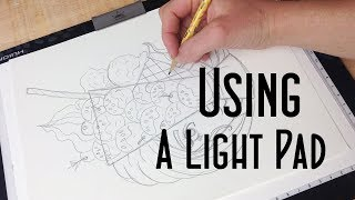 How to Use a Liġht Pad or Light Box + Huion Light Pad Demo and Review