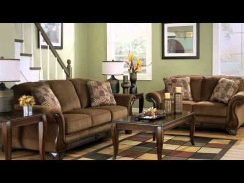 Montgomery mocha living room set from signature design by for V a dundee living room