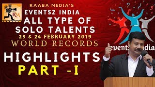 all type of solo talents world records | raaba media's eventsz india | highlights