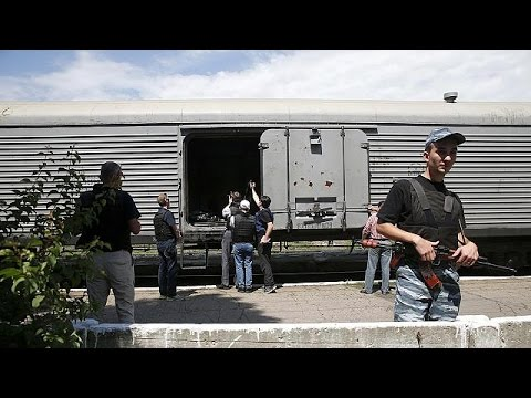 Ukraine: MH17 victims transported by train from crash site