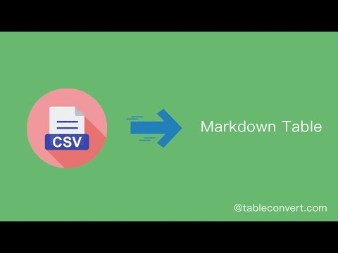 How To Convert CSV To Markdown Table Online ?