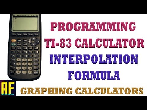 Programming Linear Interpolation on the TI-83 Plus Graphing Calculator