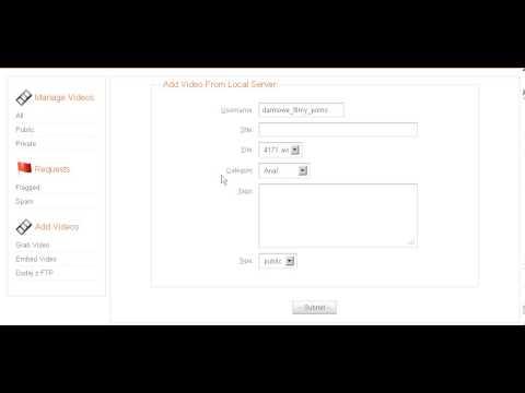 Adult Video Script - Remote FTP Upload Script