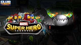 Club Penguin Music OST: MARVEL Super Hero Takeover Destructobot Battle Theme