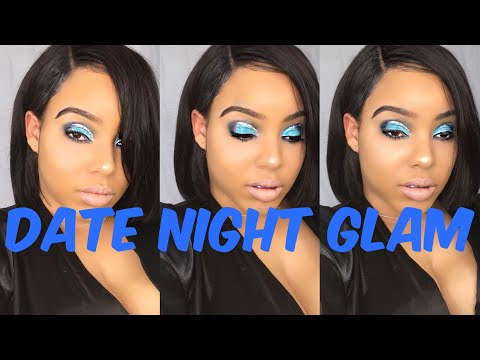 BLUE SMOKEY EYE: DATE NIGHT SEXY GLAM! (TUTORIAL)|Asia dionna