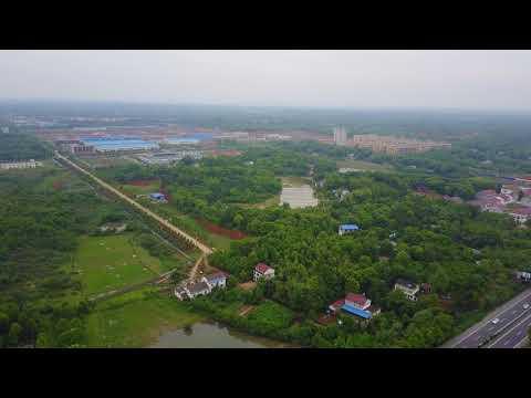 China Changde Suburb, 中国常德郊区航拍 4K