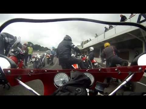 Uncut and very long ! Ducati Mike Hailwood Replica Montlhery Cafe rac festival