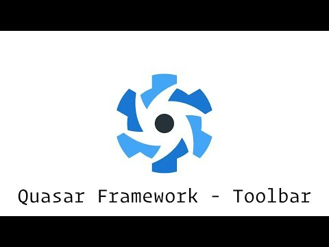 Quasar Framework - Toolbar