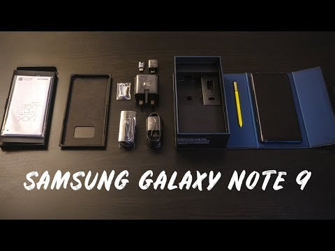 SAMSUNG GALAXY NOTE 9 UNBOXING - 128 GB Ocean Blue