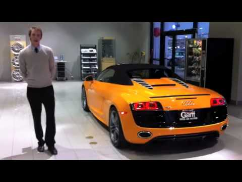 Ken Garff S Solar Orange Audi R8 V10 Spyder Youtube