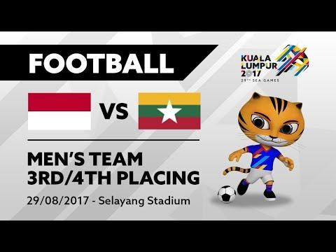 KL2017 29th SEA Games | Men's Football - 3rd/4th Placing - INA 🇮🇩 vs MYA 🇲🇲 | 29/08/2017