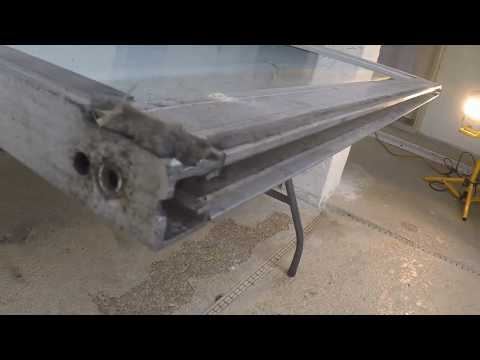 Replacing rollers and track on Aluminum sliding glass doors Part 1