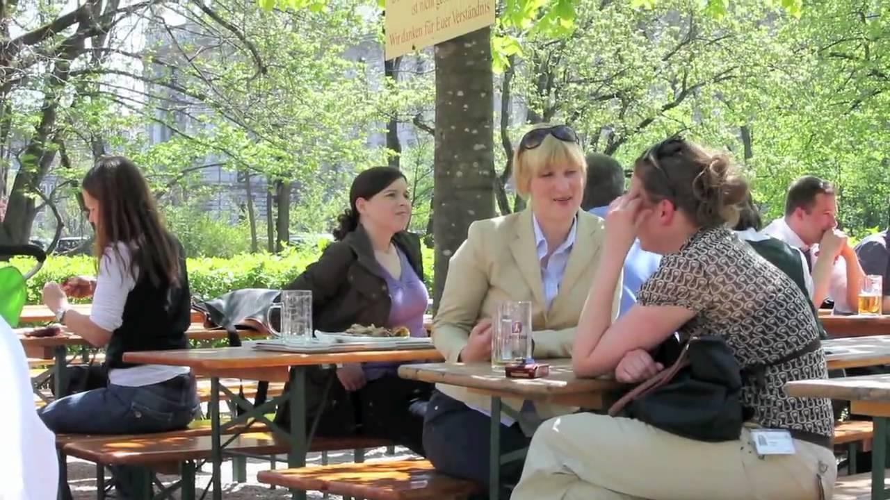 Biergarten Der Alte Botanischer Garten München YouTube