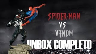 Spider-Man Vs Venom Diorama - Super Realista - Marvel Comics - Iron Studios