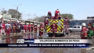 VALEROSOS BOMBEROS  EN PIURA-UCV NOTICIAS PIURA