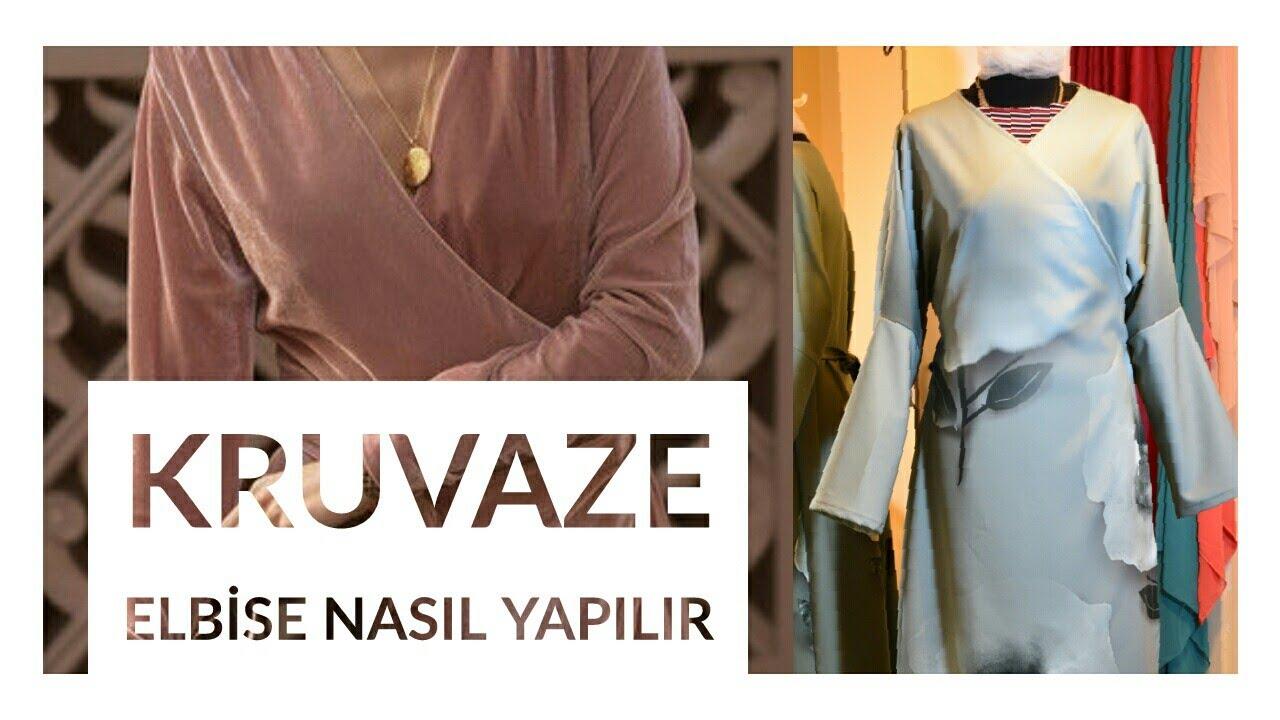 Tek Kalipla Hem Abiye Hem Namaz Elbisesi Nasil Yapilir How To Sew A Wrap Dress Youtube