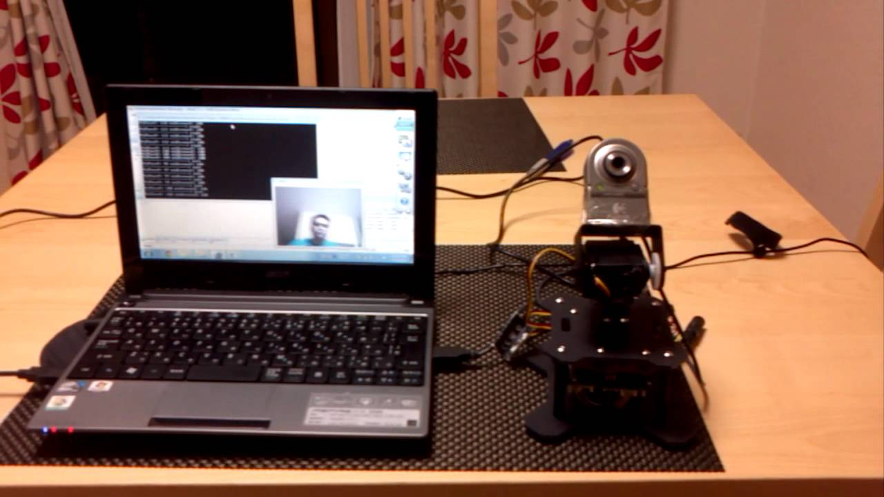 Face tracking with pan tilt camera arduino controlled