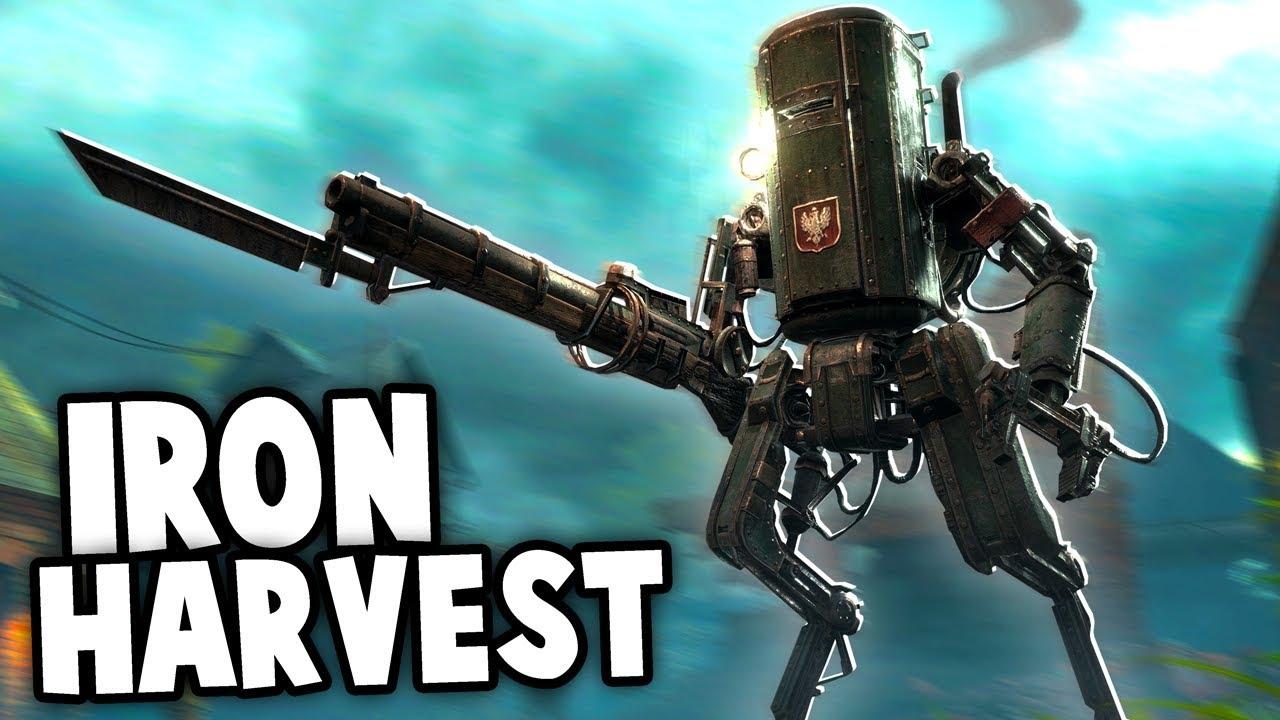 Iron Harvest Gameplay! - MECHS vs Infantry Defense! (Iron Harvest Demo  Gameplay)