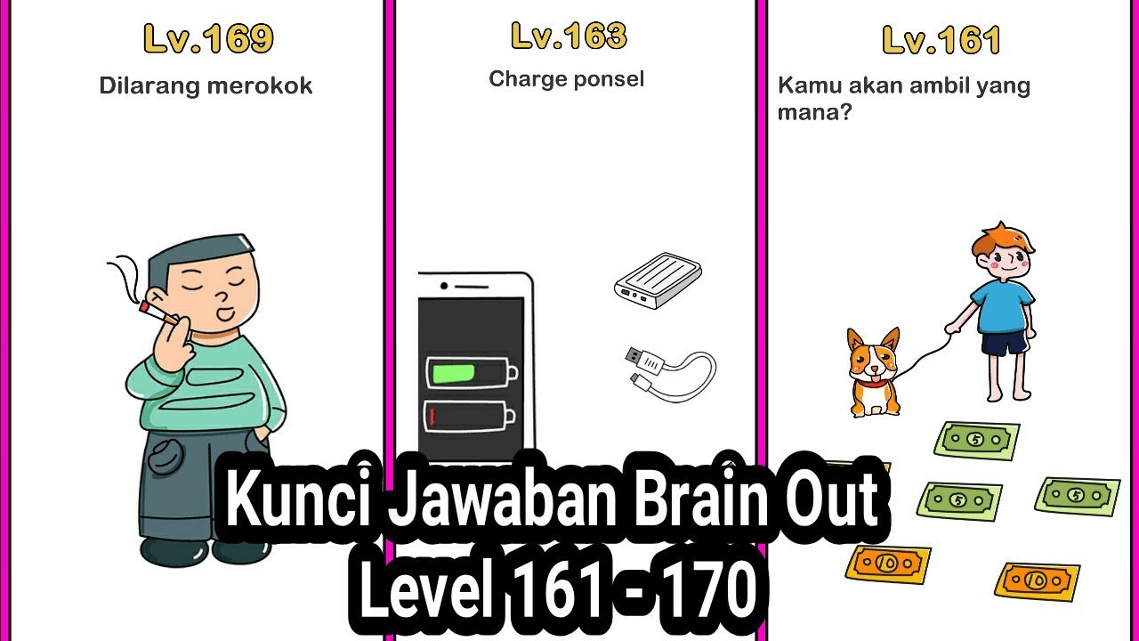 Kunci Jawaban Brain Out Level 161 - 170 - YouTube