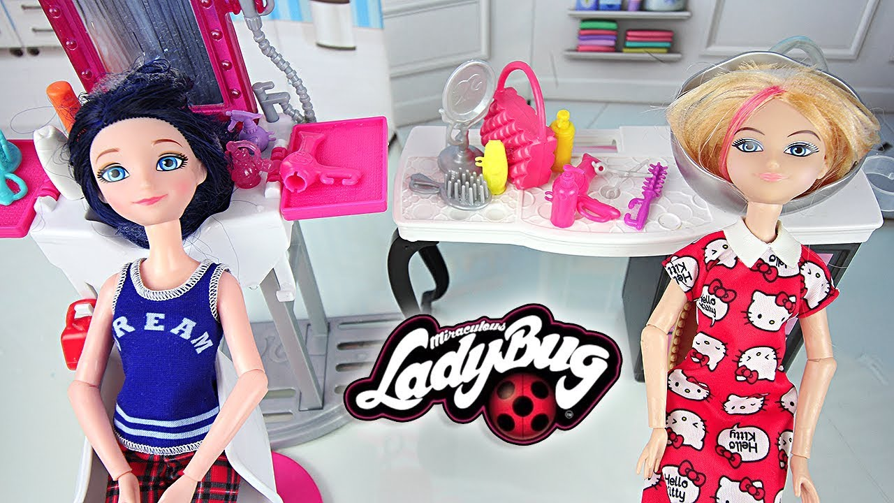 miraculous marinette chloe salon de coiffure barbie beauty salon youtube