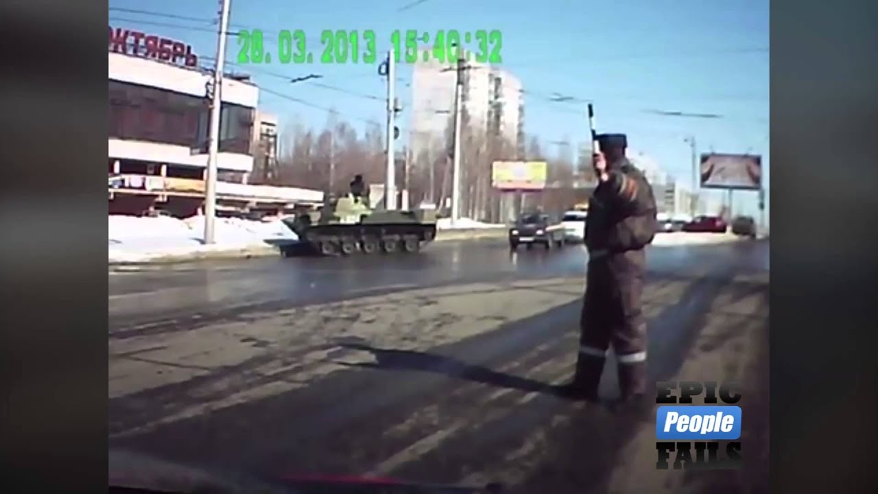 Epic Russian Tank Fail!