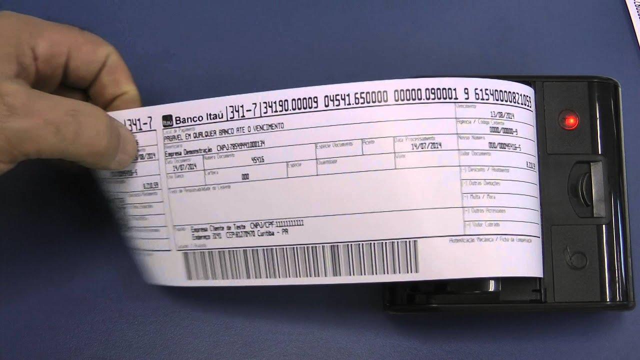 imprimindo boleto bancário na impressora Leopardo A7 - YouTube