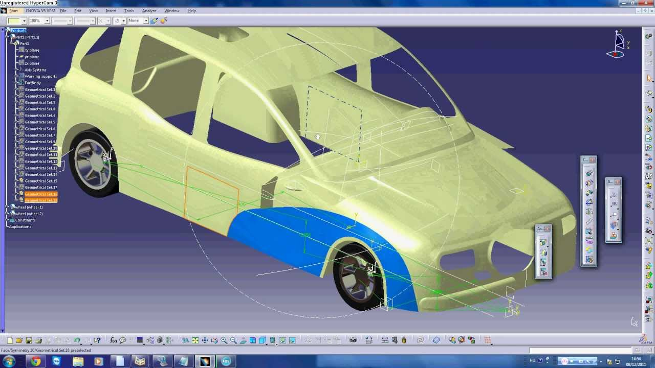 Car design with Catia V5 Generative Shape Design
