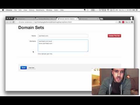 Demo for Domain Swap (Google Chrome Extension)