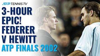3-HOUR EPIC! Lleyton Hewitt vs Roger Federer Highlights | ATP Finals 2002 Semi-Final