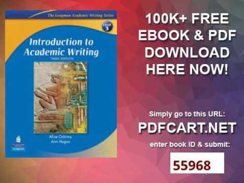 Introduction to academic writing third edition the longman academic introduction to academic writing third edition the longman academic writing series level 3 fandeluxe