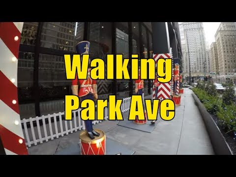 ⁴ᴷ Walking Tour of NYC, Manhattan - Park Avenue from 63rd to 14th Streets - Audio Replaced (OLD)