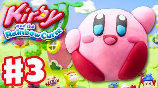 Kirby and the Rainbow Curse - Gameplay Walkthrough Part 3 - Level 1-3, 1-Boss 100%! (Nintendo Wii U)