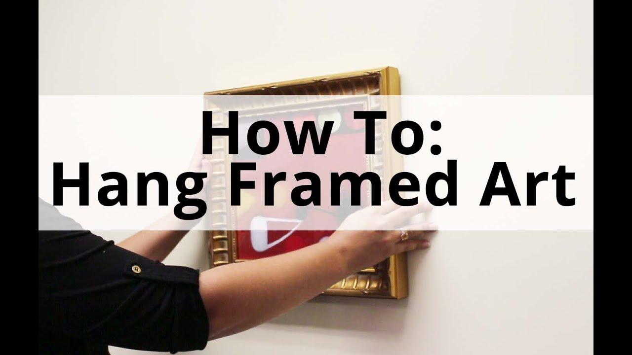 How To Hang Framed Art Tv