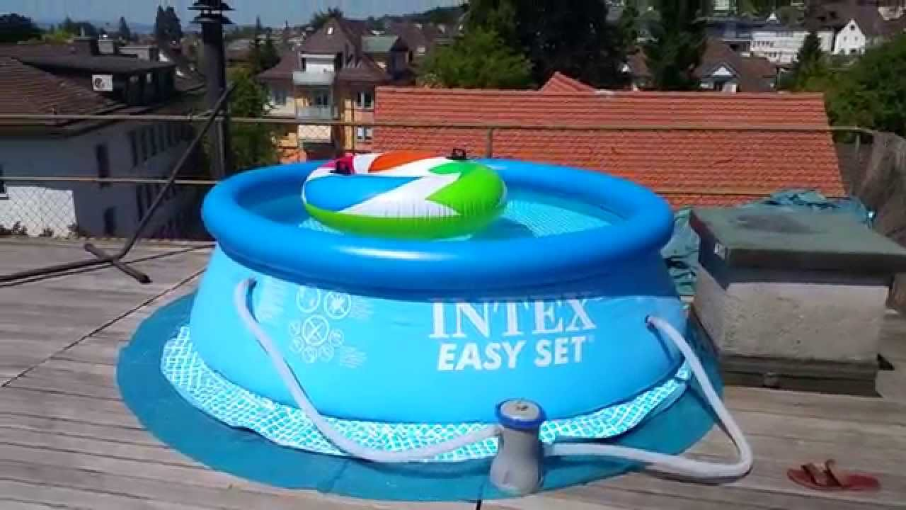 Piscina intex dimensiones 244 x 76 cm full hd youtube for Piscine intex 244 avec filtre