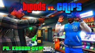 GTA 5 ONLINE - EPIC BLOODS VS CRIPS WAR EVER FT KASAANTV