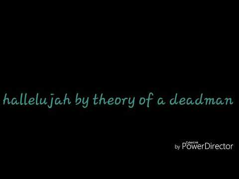 Hallelujah by theory of a deadman lyrics
