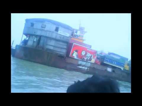 The Padma River,  Mawa and kawrakandi ports , the biggest river of Bangladesh ,  পদ্মা নদী