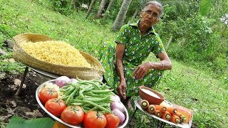 Village Food / Cooking 5kg Shell Macaroni Pasta in my Village by Grandma