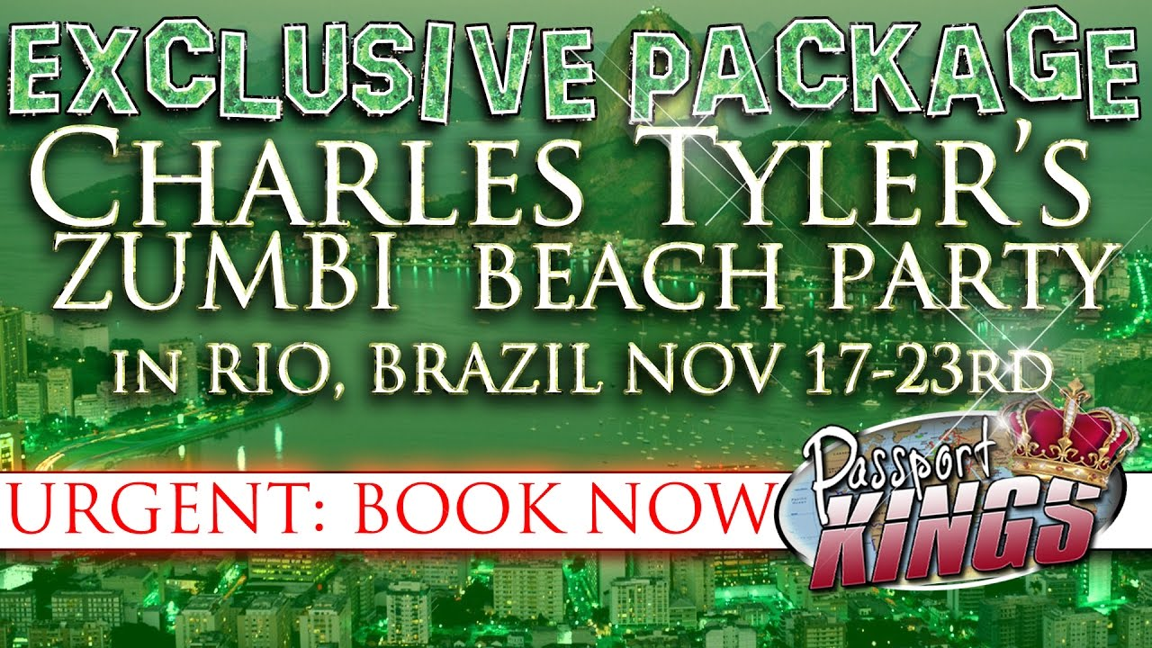 Get your exclusive package to charles tylers beach party in get your exclusive package to charles tylers beach party in brazil passport kings travel video ccuart Choice Image