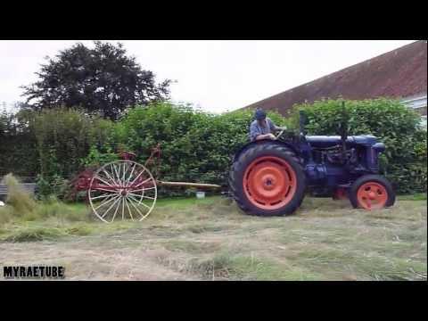 Fordson Major E27N And Old Hay Tedder