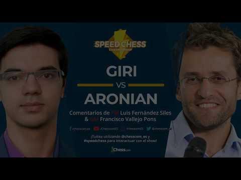 Aronian vs Giri | Cuartos de Final Torneo de Ajedrez Speed Chess 2018