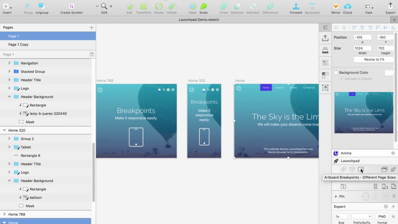 Launchpad for Sketch - How To Make Your Website Responsive