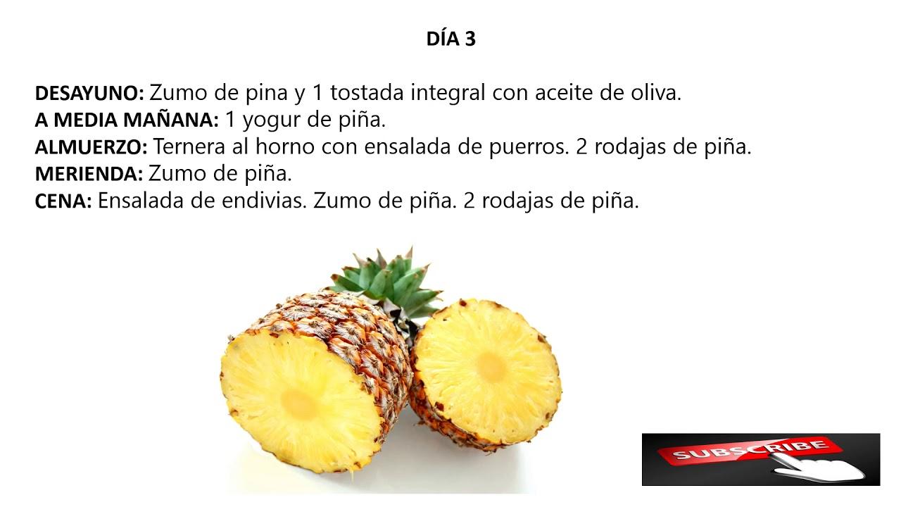 Dieta de la pina 14 dias