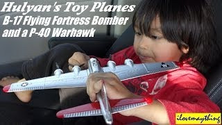 Airplane Toys: B17 Flying Fortress Bomber & P-40 Warhawk Fighter Plane