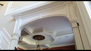 Dining Room And Main Foyer Home Trim Work By Carpentry Masters
